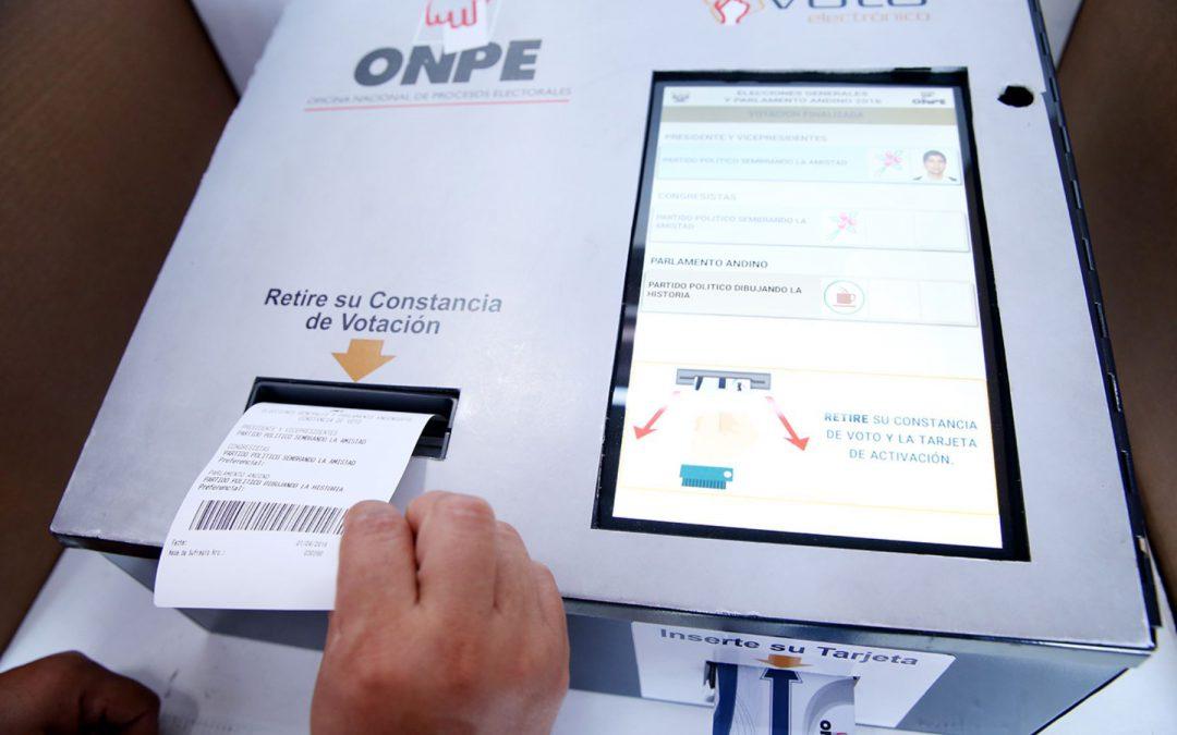 Voto electrónico en elecciones municipales y regionales 2018
