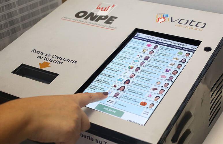 Este domingo 7 de octubre habrá voto electrónico municipales y regionales 2018