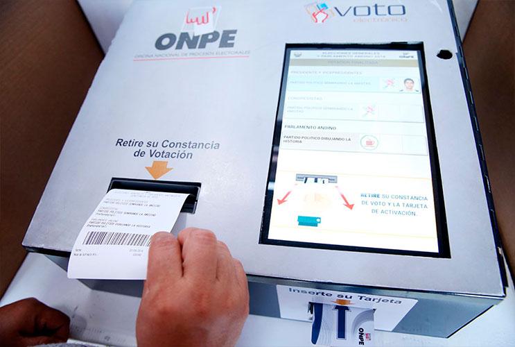ONPE confirmó que usará el voto electrónico en las próximas elecciones municipales y regionales.