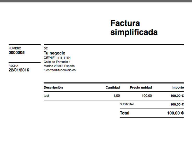 La factura simplificada es una clase de factura que se ha creado con la finalidad de reemplazar al tradicional ticket de compra.