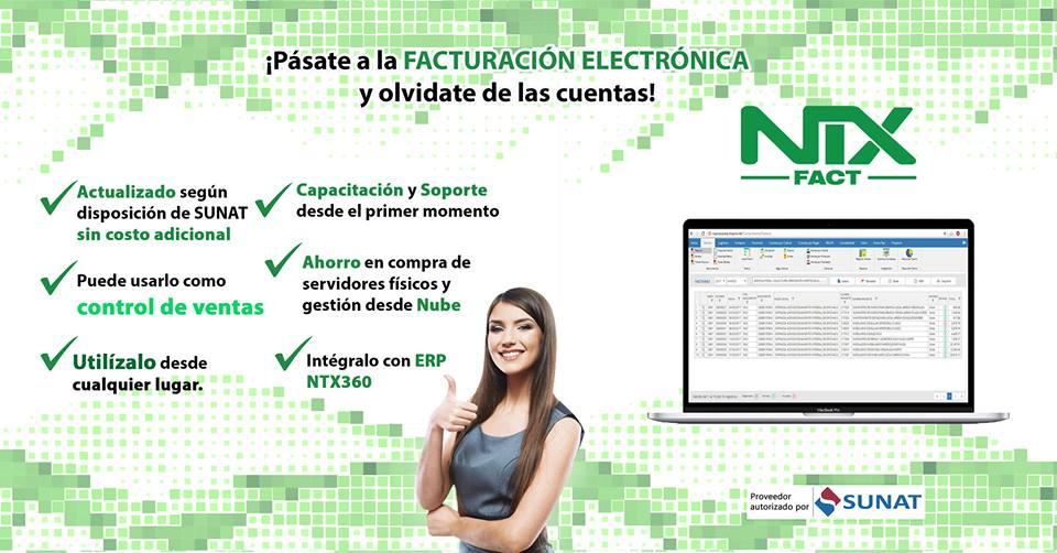 NTX FACT tiene la finalidad de suplir las notas de crédito