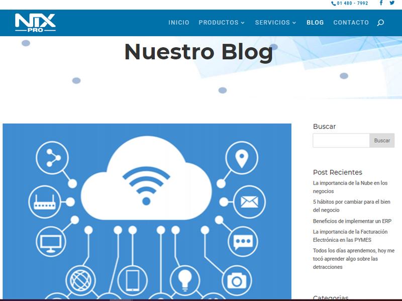 Los artículos que se publican en los Blogs no tienen un tema específico
