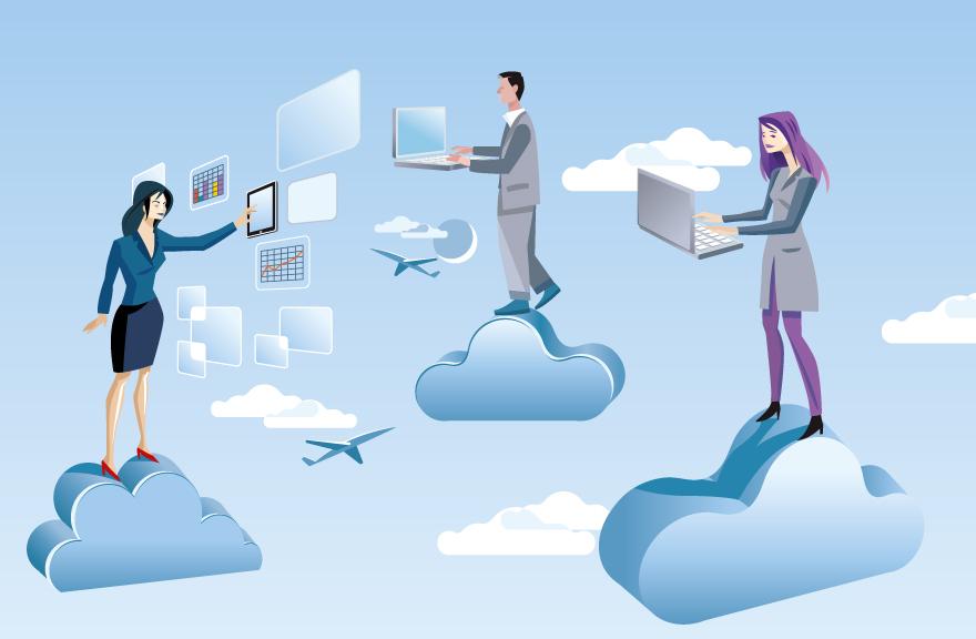 Para acceder a tus programas o archivos que se encuentren en la nube lo puedes hacer desde cualquier dispositivo.