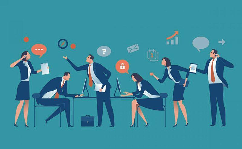 La comunicación interna de una empresa u organización establece vínculos informativos de diversa naturaleza entre sus propios trabajadores